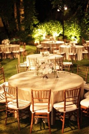 Evening Outdoor Wedding Reception, I Think An Outdoor Wedding Would Be  Wonderful Except The Weather