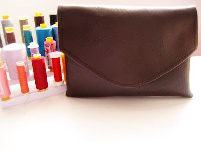Soy Envelope Clutch Tutorial with Magnetic Snap Closure