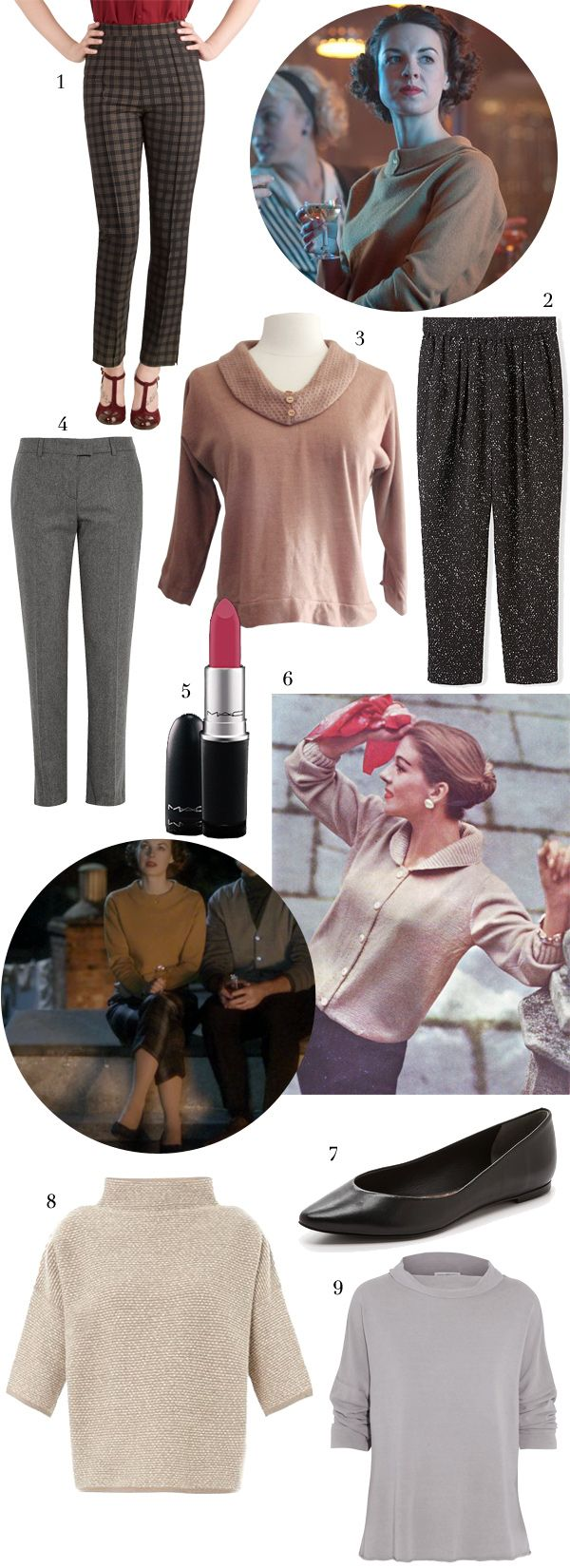 Get the Look: Jenny's Style from Call the Midwife, via WeeBirdy.com. #callthemidwife #50s #vintagefashion