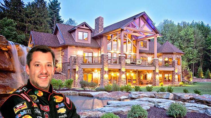 Million Dollar Cars >> NASCAR driver Tony Stewart builds log cabin in Indiana | NASCAR | Pinterest | Home, Tony stewart ...