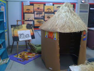 Imagine Explore Create: Ndebele hut, lots of other African-themed ideas