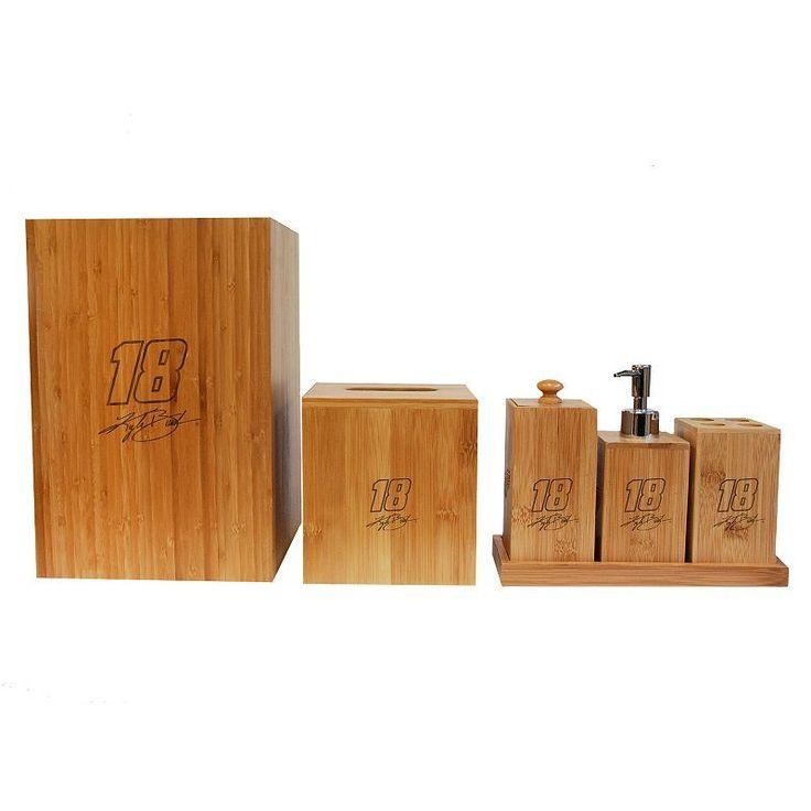 Vintage Ball Kyle Busch Piece Bamboo Bathroom Accessories Set