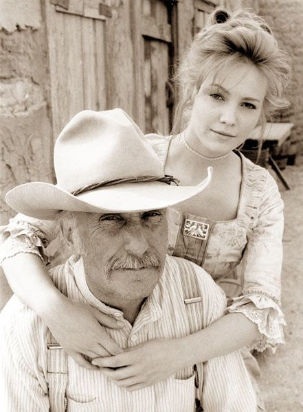 I love this picture of Robert Duvall and Diane Lane, in costume, as Gus and Lorena in Lonesome Dove