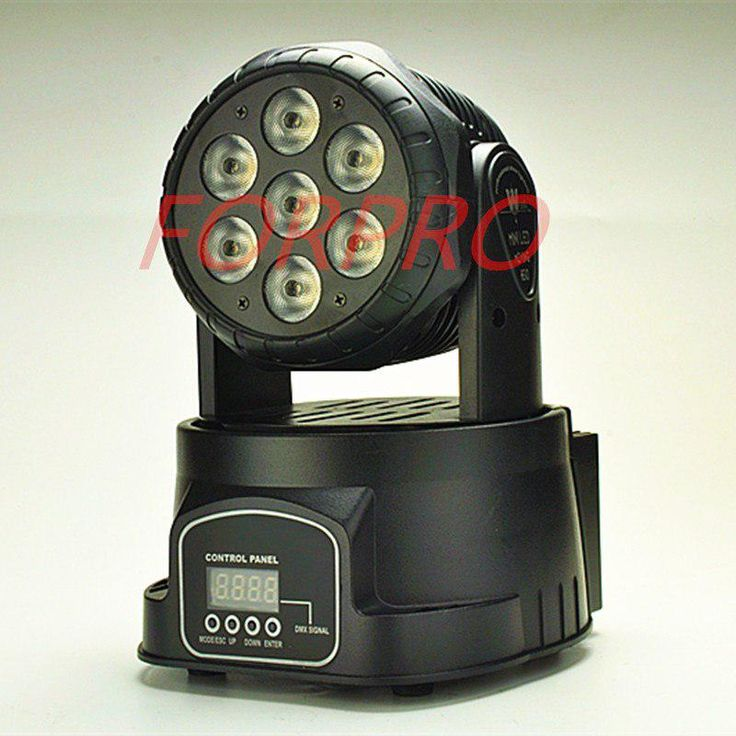 LED Moving Head Mini stage 7x12w RGBW 360 degree Moving Rotating wash light Disc…