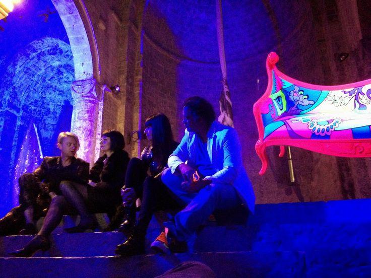 GravitàZero - Andy Fumagalli (artista), Oriana Mariotti (giornalista), Raffaella Maron (artista) e Pierluigi Luise (gallerista e curatore della mostra). www.raffaellamaron.com