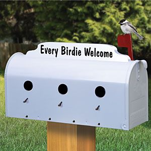 "Mailbox Birdhouse Pattern.  Finally a birdhouse that will last for years. Complete with simple to use cleanout! 11""H x 6""W x 20""D.   Pattern #2405  $12.95  ( crafting, crafts, woodcraft, pattern, woodworking, birdhouse ) Pattern by Sherwood Creations"