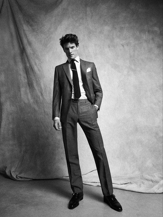 PANTALÓN LANA CUADRILLE SLIM FIT PERSONAL TAILORING de HOMBRE - Personal Tailoring de Massimo Dutti de Primavera Verano 2017 por 99.95. ¡Elegancia natural!