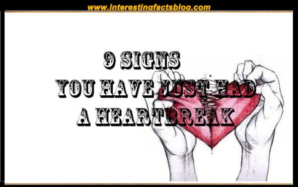 Heartbreak symptoms