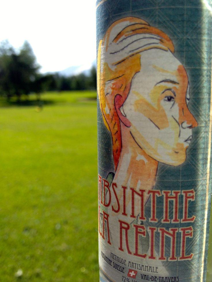 Absinthe La Reine a wonderful Absinthe with 72% Vol. Alc. www.absinthe-lareine.ch   #absinthe #suisseabsinthe #golf #swissabsinthe #absinthedistribution #originalabsinthe #valdetravers #absinthelareine