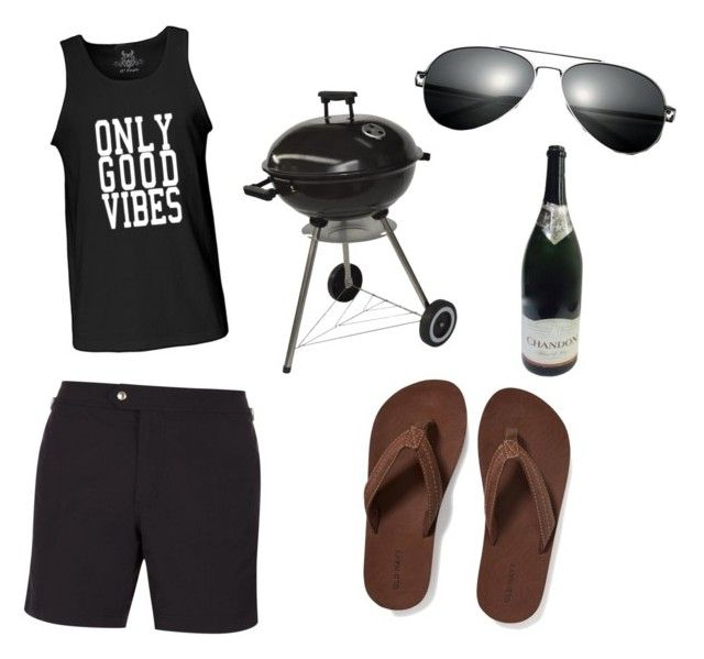 """""""Men's beach outfit"""" by rachelle-susanto on Polyvore featuring Tom Ford, Old Navy, men's fashion and menswear"""