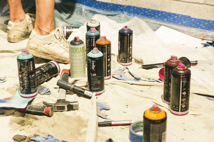 Ironlak spray paint. DOES 'Brick in the Wall' at Ironlak Art & Design Chermside – video — Ironlak