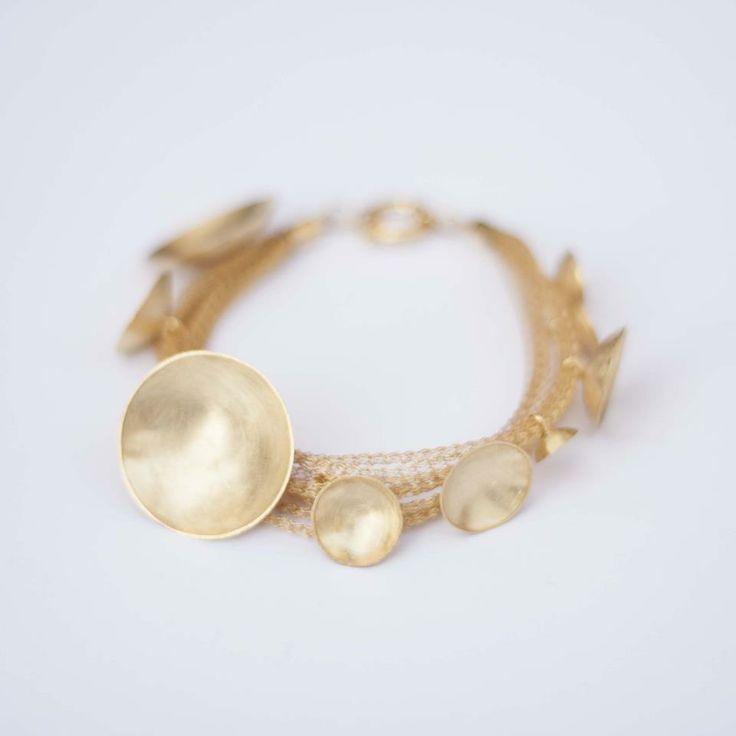 Lia Gonçalves | Joalharia de Autor _ bracelet _ moon collection _ golden silver