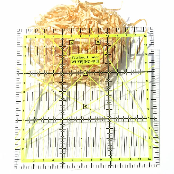 2016 neue Herrscher 1 stücke Hausgarten Kunst Handwerk Nähen Nadel kunst Handwerk Nähen Werkzeuge Zubehör 15*15 cm * 0,2 cm Patchwork herrscher