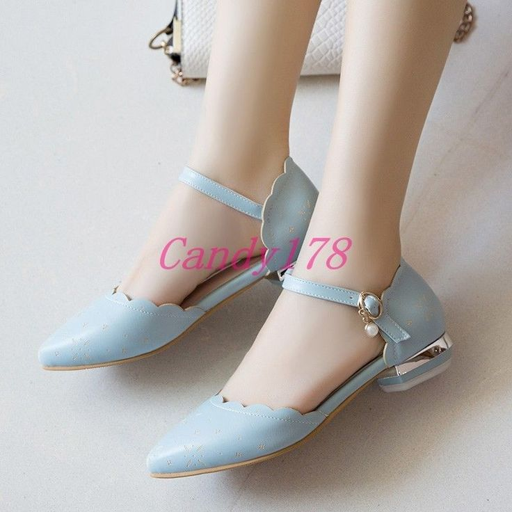 Sweet Girls Mary Janes Casual Womens Strap Block Low Heel Dress Shoes Date Prom