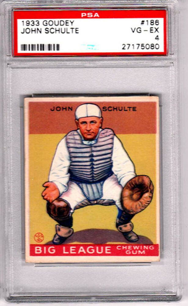 1933 Goudey 186 Chicago Cubs John Schulte Psa 4
