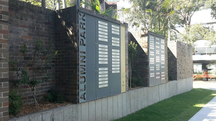 UNSW alumni park donor wall