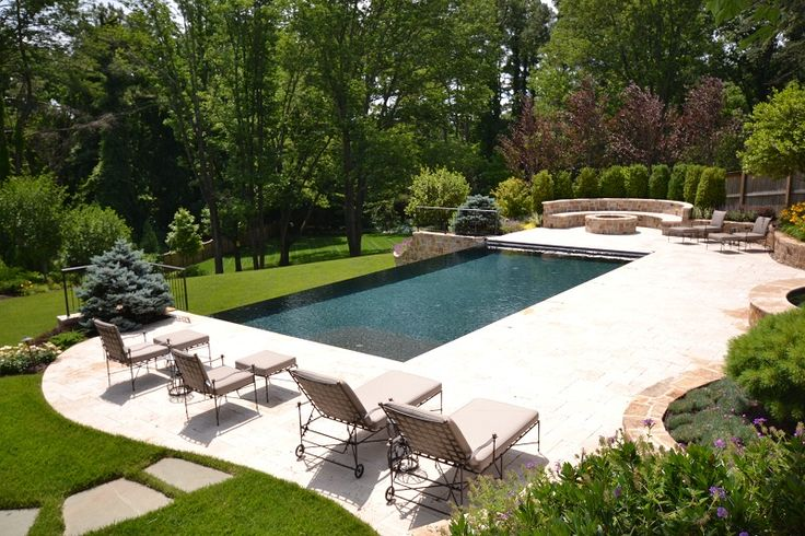 Vanishing Edge Pool Gallery - Town and Country Pools : Custom Pool Builders : Pool Designer : Maryland : Northern Virginia : Washington DC : MD