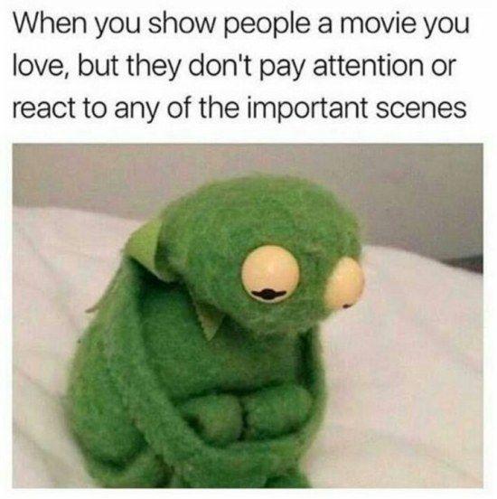 Definitely me when I get my kids to get them to watch star wars