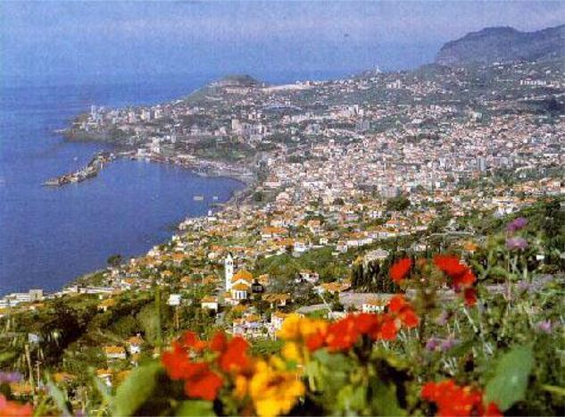 Stopped here on a transatlantic cruise from England in 2008.  Funchal, a beautiful town on the Portuguese island of Madeira