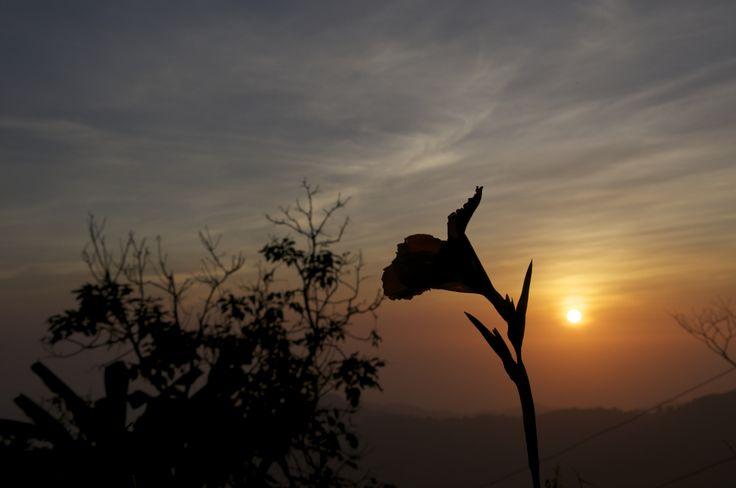 Sunset from El Dorado, Colombia