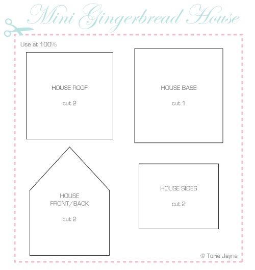 mini gingerbread house template | birthdaysbirthdaysbirthdays ...