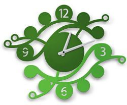 Make spring enter your home.  Juicy green clock will vivify  the interior.