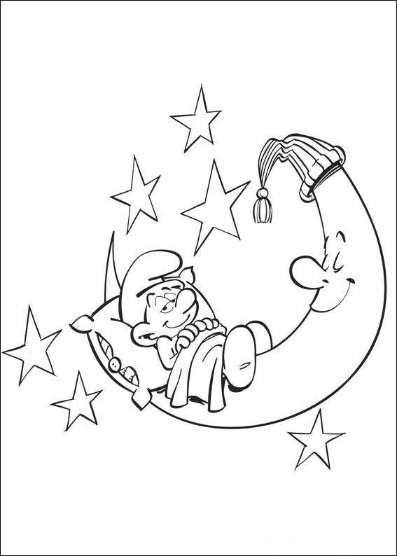 Smølferne Tegninger til Farvelægning. Printbare Farvelægning for børn. Tegninger til udskriv og farve nº 6