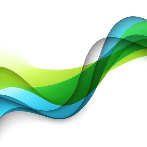 Vector Green Blue Yellow Wave Background