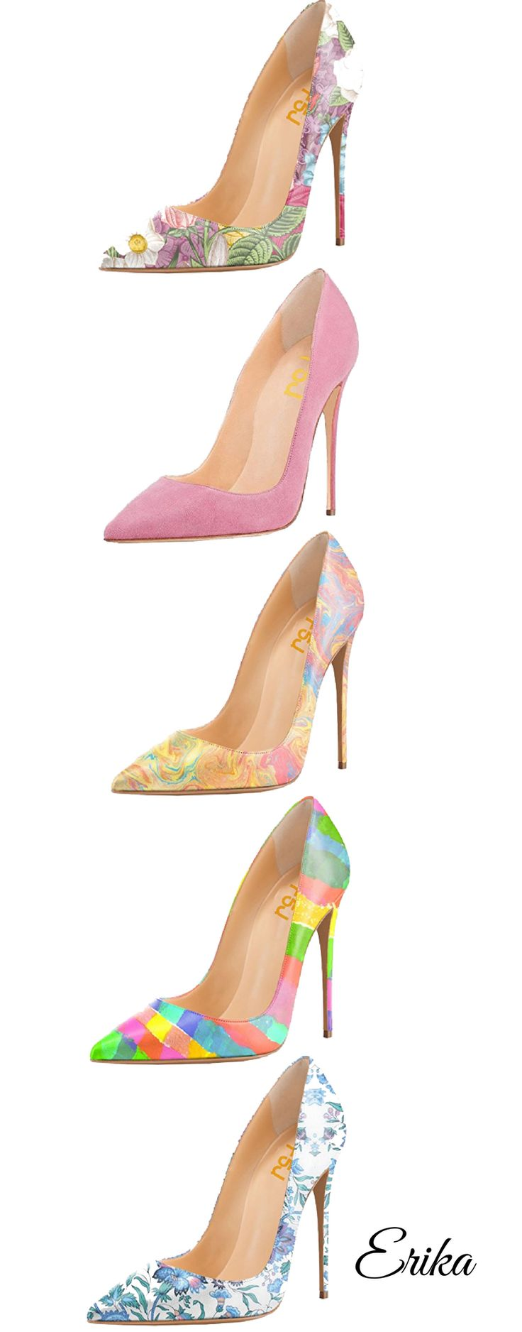 Floral High Heel Pumps