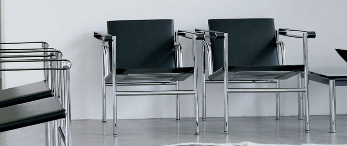 LC1 chair (Modern Classic) designed by Swiss-French architect and designer Le Corbusier in 1928.