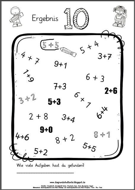 Grundschulblogs.de | 1.sınıf ve özel eğitim için | Pinterest | Mathe ...