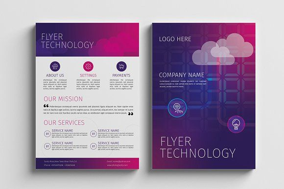 Technology Flyer Template by Rashad on @creativemarket