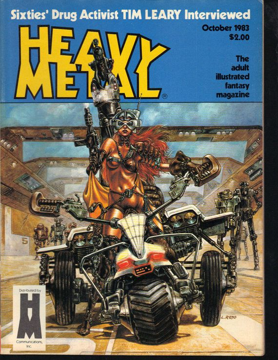 Heavy Metal Magazine October 1983 Tim Leary by PsychoActiveStudio