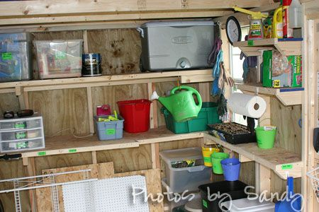 organizing tool shed | Garden Shed Plans - Organize With Sandy : Organize With Sandy