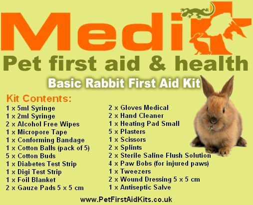 rabbit first aid kit - Google Search