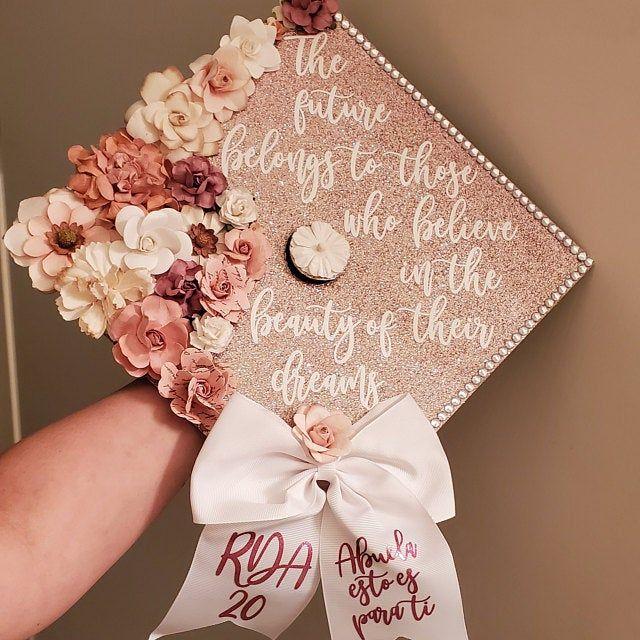To Be A Nurse Graduation Cap Topper Decoration With Flowers Etsy In 2021 Graduation Cap Decoration College Graduation Cap Decoration Graduation Cap