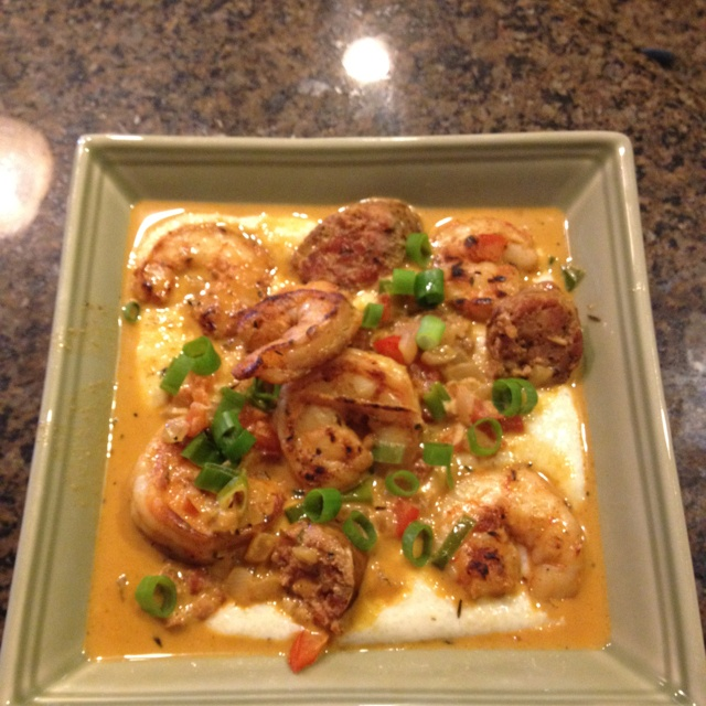 Made this last night for dinner and OMG I couldn't put down my fork. We used fresh shrimp from whole foods and Quaker quick grits  http://www.foodnetwork.com/recipes/emeril-lagasse/spicy-shrimp-and-andouille-over-charleston-style-grits-recipe/index.html