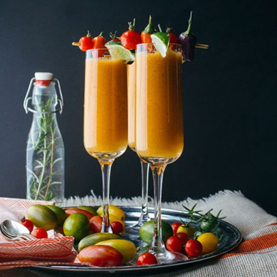 This fresh-squeezed Bloody Mary recipe calls for Heirloom tomatoes for the freshest flavor and beautiful color.