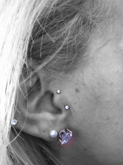 Vertical tragus piercing. Express yourself #thisisme