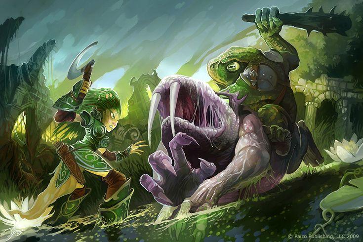 Swamp attack by GuzBoroda.deviantart.com on @DeviantArt