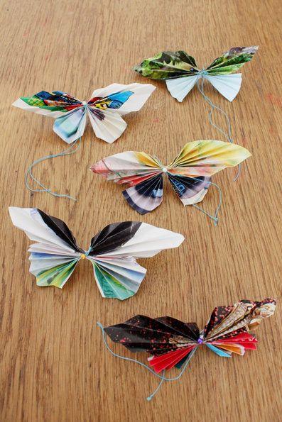 Bastelideen mit Papier: Falter falten–Papierschmetterlinge für den Sommer | SoLebIch.de