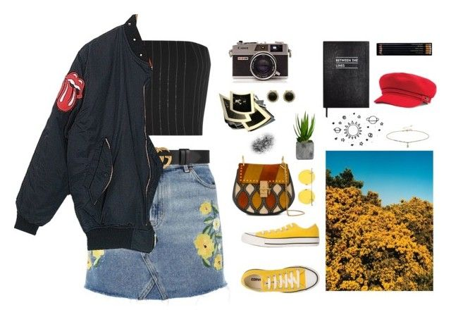 """""""Between the lines"""" by olivia-wikstrom on Polyvore featuring Topshop, Converse, LMNT, Gucci, Thierry Mugler, Chloé, Angelo, Sloane Stationery, Miss Selfridge and Laura Ashley"""