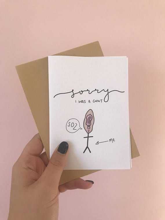 Novelty Funny Card- Sorry I was a c*nt | Rude Card | Sorry I was a cunt