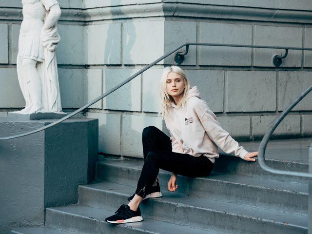 obey hoodie + adidas nmd