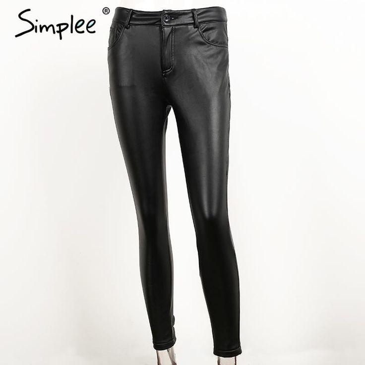 Simplee Slim High Waisted Leather Pants  #newarrivals #instacool #trendy #sleek #shoe #cool #shopping #nofilter #instalove #bestoftheday https://goo.gl/InbJt0