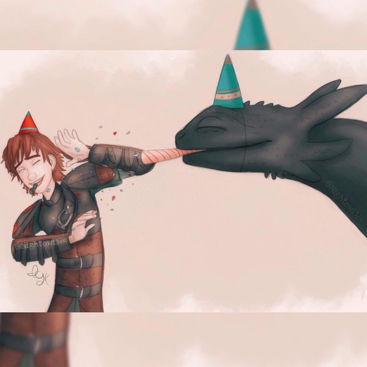 Hiccup's birthday by @nightowl374<<< Yep, his birthday is on the 29th of February. You can look it up in the books.