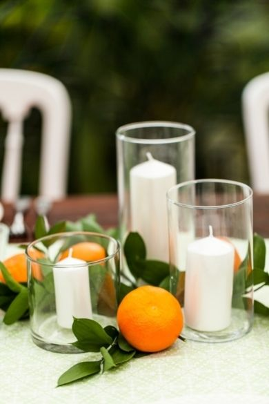 Citrus Centerpiece- Photo Captured by A Brit  A Blonde