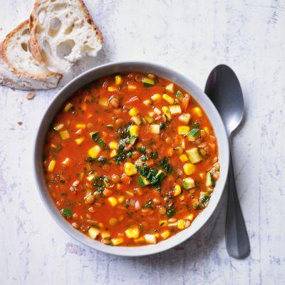 Winter warming lentil soup