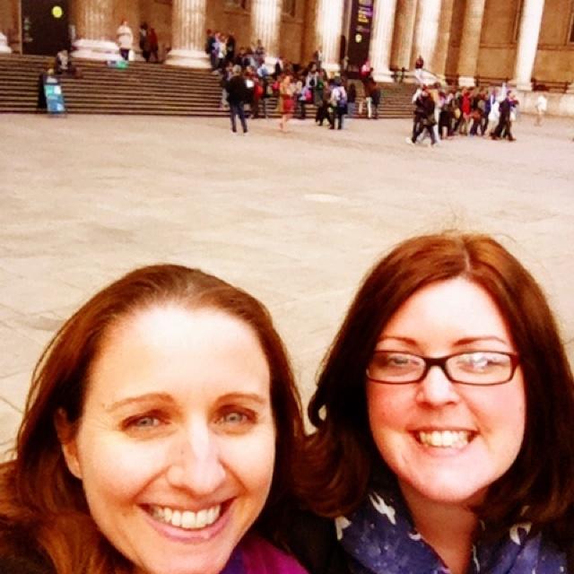 Joanna Penn and Catherine Ryan Howard at the British Museum