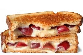 Much Recipes - Grape and Taleggio Grilled Cheese
